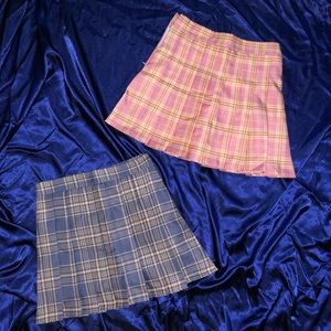 Skirts - Two plaid mini school girl skirts